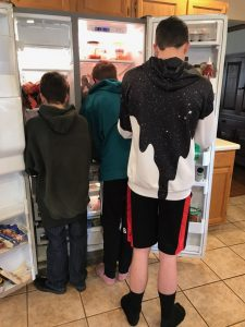 Boys at the fridge